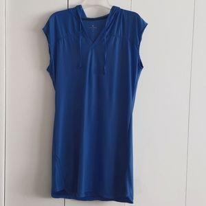 Athleta Blue Sleeveless Hooded Dress Size Large